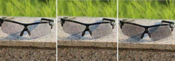 gafas fotocromáticas en acción