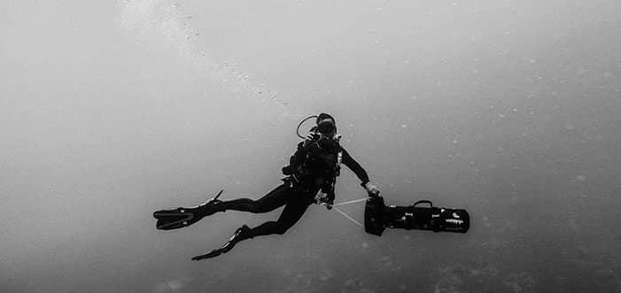 propulsores acuáticos en acción