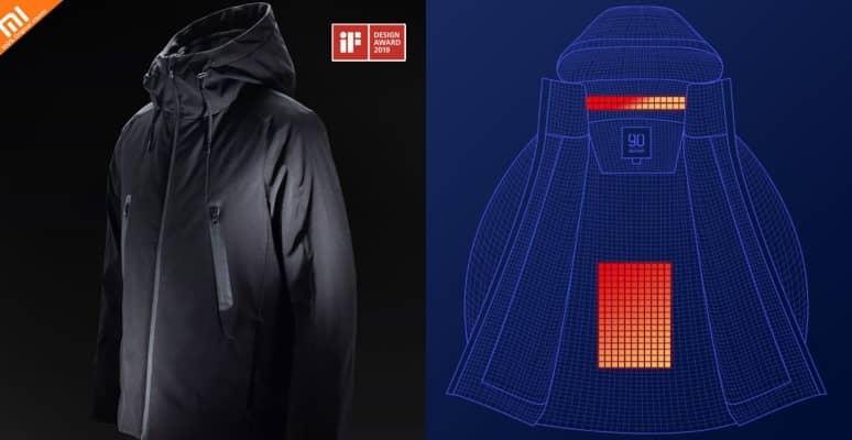 chaqueta calefactable xiaomi 90